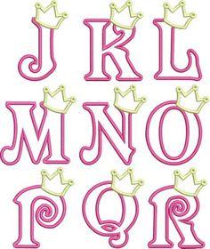 Hierro en apliques princesa corona letras por OkayNowItsPersonal