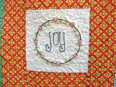 Christmas quilt - joy