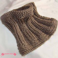 Cuellos fáciles en punto Caramelo Loom Knitting, Baby Knitting, Knitting Patterns, Crochet Patterns, Crochet Lace Edging, Knit Crochet, Baby Dress Patterns, Neck Warmer, Womens Scarves