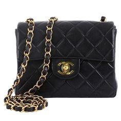 77207e622d4b Chanel Shoulder Bag - Vintage Square Single Flap Bag Quilted Lambskin Mini  Lambskin