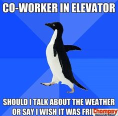 awkward elevator co worker