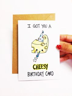 cheesy birthday card More