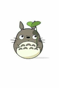 Cute Animal Drawings, Cute Drawings, Hayao Miyazaki, Totoro Drawing, Studio Ghibli Art, Ghibli Movies, Cute Cartoon Wallpapers, My Neighbor Totoro, Kawaii Wallpaper