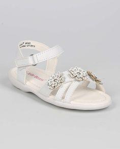 New-Girl-EC14-Leatherette-Open-Toe-Criss-Cross-Flower-Velcro-Sandal-Sz-6-11