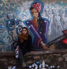 Street Art, Shamsia Hassani, Afghanistan