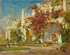 Bougainvillea on Capri Constantin Alexandrovitch Westchiloff (Russian, St. Petersburg 1877–1945 New York State)