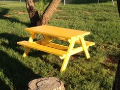 Great I Will Paint My Picnic Table In The Backyard In Some Really Bright Color!