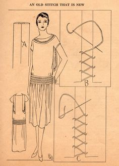 Home Sewing Tips from the 1920s - Fagoting Trim