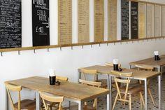Koya-Japanese-Bar-Soho-London-Remodelista-03 Noodle Restaurant, Cafe Restaurant, Restaurant Design, Japanese Udon, Japanese Bar, Cafe Bistro, Cafe Bar, Bars In Soho London, Ercol Furniture