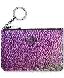 COACH KEY POUCH IN HOLOGRAM LEATHER