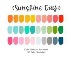 Color Schemes Colour Palettes, Colour Pallette, Retro Color Palette, Palette Art, Color Swatches, Color Theory, Summer Colors, Color Inspiration, Just In Case