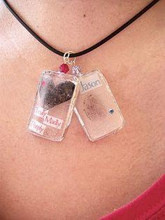 Tutorial on how to make fingerprint pendants!