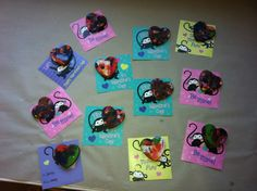 Melted crayons in heart shapes for Valentine's Day -- got the idea from Pinterest.
