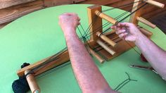 Inkle Weaving - How to make heddles & warp the loom, a video by Annie MacHale (aka ASpinnerWeaver)