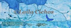 """""""Arctic rush hour"""". Acrylic painting on canvas by Laila Cichos."""