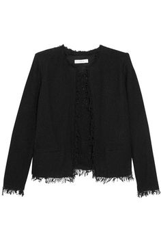 Black cotton-blend bouclé Slips on 90% cotton, 10% polyamide; lining: 65% polyester, 35% cotton Dry clean Imported