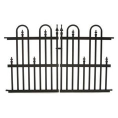 Lowes 22 No Dig Powder Coated Steel Fence Gate Common