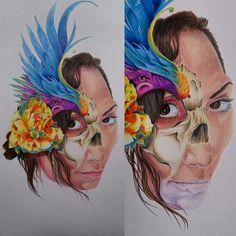 #kanuttoo #inked #illustration #tattoo #design #pencilart #realism #colors #draw #インク #イエロー #ブルー #ペイント #アーティスト #タトゥー #デザイン #ピンク  #リアリズム  #かわいい  #スケッチ  #ベネズエラ #日本 #鉛筆 #色 #花 #顔 #鉛筆 #顔 #色 #描く #頭蓋骨