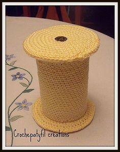 ma dernière création pour les serials crocheteuses boite bobine fermé