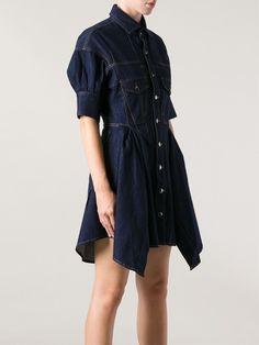Mcq Alexander Mcqueen Denim Shirt Dress - - Farfetch.com