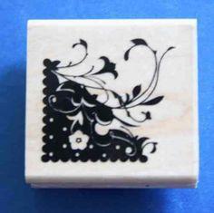 Inkadinkado 'Floral Corner' Rubber Stamp Flower Quotes, Mothers Day Crafts, Card Making, March, Corner, Stamp, Scrapbook, Detail, Floral