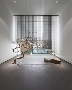 tree installation art modern art living room lounge
