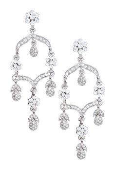 Crystal Floral Chandelier Earrings