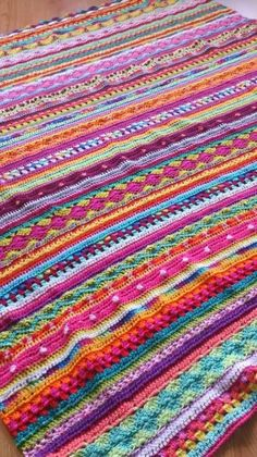 As we go Stripey Blanket - Available on Ravelry
