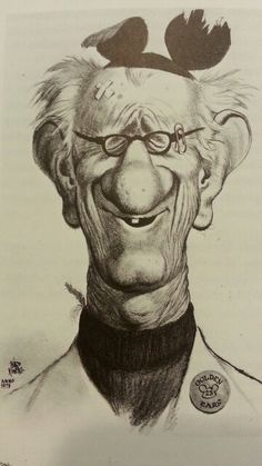 Larry Clemons Caricature by Ward Kimball