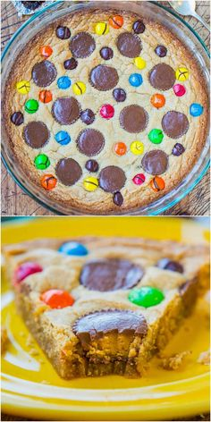 Triple Peanut Butter Cookie Pie .