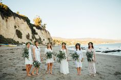 white bridesmaids with flower crowns - Green Wedding Shoes Wedding 2017, Wedding Shoot, Wedding Attire, Dream Wedding, Wedding Stuff, Floral Wedding, Wedding Colors, Wedding Styles, Wedding Themes