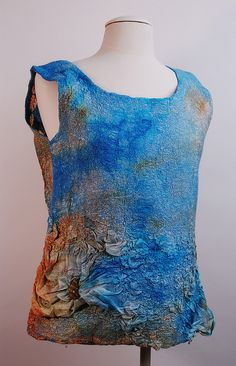 Nuno Felted Top by rod scott. Reminds me of Angela's installation project a few years ago