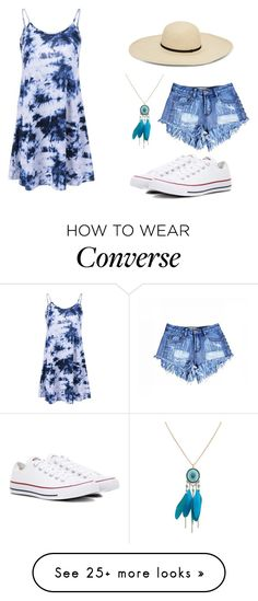"""""""Beach Day"""" by mazniem on Polyvore featuring Converse"""