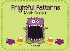 HALLOWEEN: Frightful Patterns Math Center $
