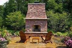 Outdoor Brick Fireplace Design Ideas | fireplaces information on using brick veneer for a backyard fireplace