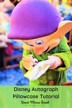 Disney Autograph Pillowcase Tutorial And Tips : If you are looking for a Disney autograph book alternative, making a Disney autograph pillowcase is a fun, cheap, and easy souvenir. Disneyland Tips, Disneyland California, Disneyland Vacation, Disney Vacation Planning, Walt Disney World Vacations, Disney Travel, Disney World Tips And Tricks, Disney Tips, Disney Ideas