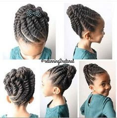 Adorable Twisted Updo IG:@returning2natural  ‪#‎naturalhairmag‬