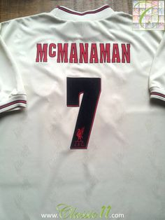 0349ab5de27 Relive Steve Mcmanaman s 1996 1997 season with this vintage Reebok Liverpool  away football shirt.