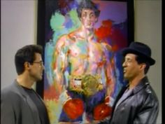 @officialslystallone meets Rocky Balboa  #RockyV #1990 #rocky #rockybalboa #sylvesterstallone #actor #writer #screenwriter #slystallone #stallone #film #cinema #filmmaking #movie  #filmmaker #street #philly #philadelphia #fighter #boxer #skit #painting #art #artist