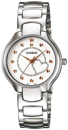 Women's Wrist Watches - Casio Womens LTP1337D7A2 Silver StainlessSteel Quartz Watch with White Dial >>> Check out this great product.
