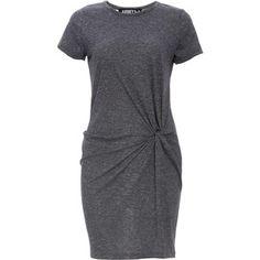 Front Knot Jersey T-Shirt Dress