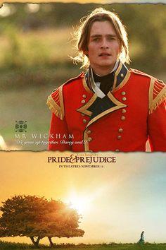 Rupert Friend (Mr. George Wickham) - Pride & Prejudice (2005) directed by Joe Wright #janeausten