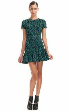 Yeşil-Siyah yazlık elbise