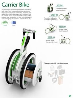 carrier bike, ride with your belongings carrier bike, composition carrier bike, user target Foldable Electric Bike, Folding Bicycle, Yanko Design, Motorcycle Style, Bicycle Design, Presentation Design, Product Presentation, Custom Bikes, Industrial Design