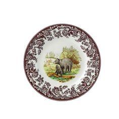 "Spode Woodland 8"" Bear Salad Plate"
