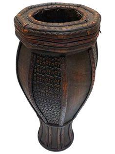 Vaso Decorativo de Madeira Rústico 30cm - http://www.artesintonia.com.br/vaso-decorativo-de-madeira-rustico-30cm-arte-decor