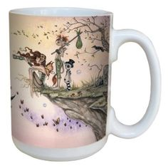 Amazon.com: Tree-Free Greetings lm43566 Fantasy Where The Wind Takes You Fairy Ceramic Mug with Full Sized Handle by Amy Brown, 15-Ounce: Ki...