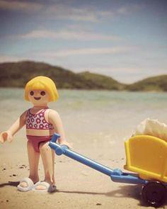 Playmobil on the beach