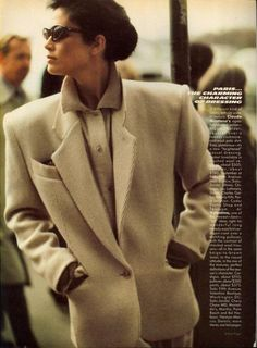 US Vogue July 1984 Paris...A Different Character of Dressing Photo: Arthur Elgort,  Model: Kim Williams,  Hair Christiaan,  Makeup: Stéphane Marais
