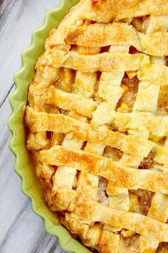 Easy Fresh Peach Pie recipe